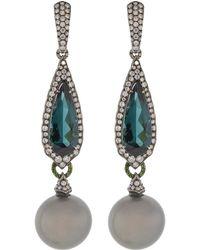 Inbar - Green Tourmaline Earrings - Lyst