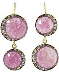 Sylva & Cie - Ruby Moon Earrings - Lyst