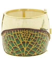Silvia Furmanovich Marquetry Waterlily And Dragonfly Bracelet - Multicolor