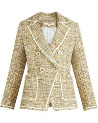 Veronica Beard Theron Tweed Jacket - Natural