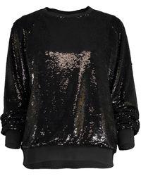 Alexandre Vauthier Micro Sequin Sweatshirt - Black