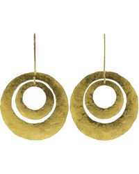 Boaz Kashi - Gold Disc Earrings - Lyst