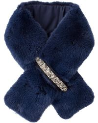 Moncler Mink Collar With Jewels - Blue