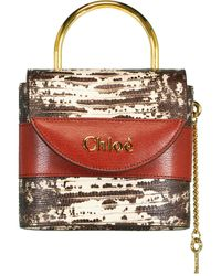Chloé Brown Small Aby Lock Bag