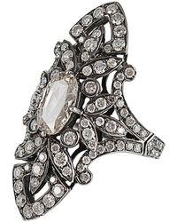 Bochic - White Pave White Diamond Ring - Lyst