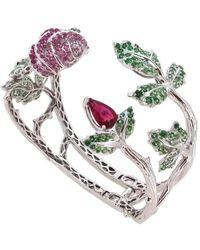 Wendy Yue Rubellite Rose Bracelet - Metallic