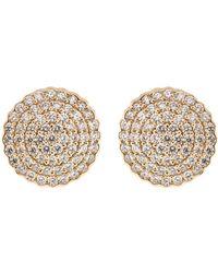 Dana Rebecca Diamond Pave Stud Earrings - Metallic