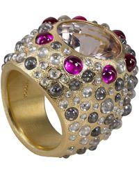 Todd Reed Morganite Ruby Diamond Ring - Metallic