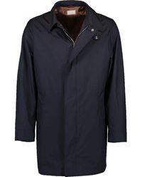 Brunello Cucinelli Long Trench Coat - Blue