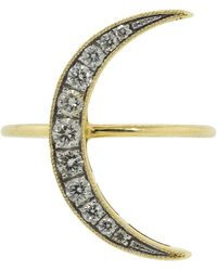 Andrea Fohrman Medium White Diamond Luna Ring - Multicolour