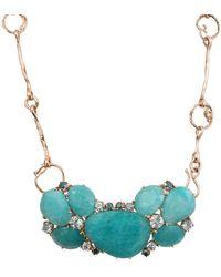 Federica Rettore Amazonite Necklace With Aquamarines - Multicolour