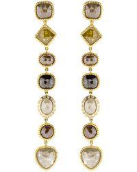 Todd Reed Fancy Diamond Drop Earrings - Metallic