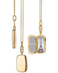 Monica Rich Kosann Slim Britt Rectangle Locket Necklace - Metallic