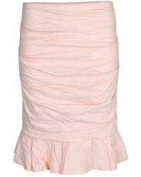 Nicole Miller Ruffle Skirt - Pink
