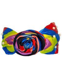 NAMJOSH Multicolour Striped Pearl Headband - Blue