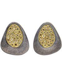 Todd Reed - Cognac Diamond Silver Stud Earrings - Lyst