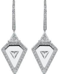Nikos Koulis Universe White Diamond Earrings - Multicolor