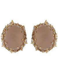 Fernando Jorge - Pink Quartz And Diamond Fusion Earrings - Lyst