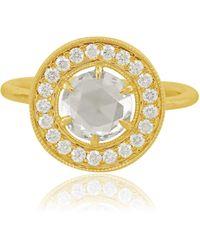Sutra Rose Cut Diamond Halo Ring - Metallic
