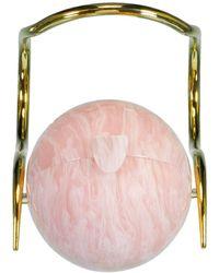 Cult Gaia Pearl Top Handle Bag - Pink