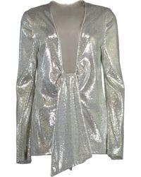 Galvan London Ando Tie Front Jacket - Metallic