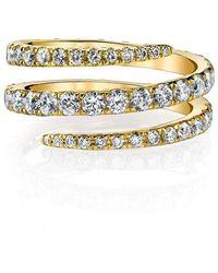 Anita Ko Diamond Pinky Coil Ring - Multicolour