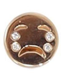 Alison Lou Diamond Tears Happy Face Stud - Metallic