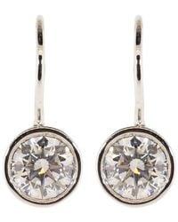 Kwiat White Gold Bezel Set Diamond Drop Earrings - Metallic