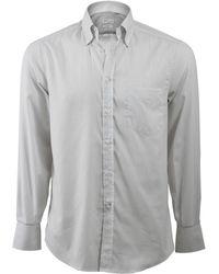 Brunello Cucinelli - Stripe Spread Collar Shirt - Lyst