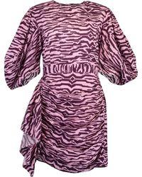 RHODE Pia Dress - Zebra Pink