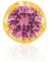 Andrea Fohrman Pink Sapphire Single Stud