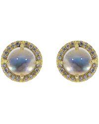 Irene Neuwirth Rainbow Moonstone Diamond Studs - Multicolour