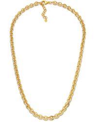 Buddha Mama Diamond Link Necklace - Metallic