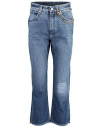 Givenchy Chain Detail Cropped Denim Trouser - Blue