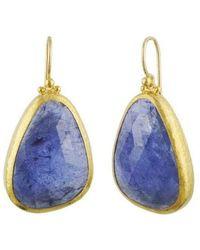 Gurhan Elements Tanzanite Drop Earrings - Blue