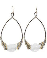 Alexis Bittar Vine Wrapped Pave Hoop Earrings - Metallic