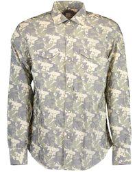 Eleventy Camo Western Snap Sport Shirt - Green