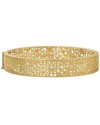 Yossi Harari Champagne Diamond Lace Cuff - Metallic
