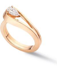 Repossi Serti Inverse Diamond Ring - Rose Gold - Metallic