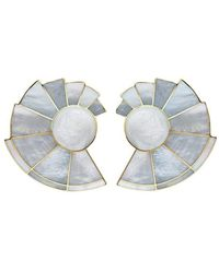 Monica Sordo Mother Of Pearl Nautilus Ear-fans - Multicolour
