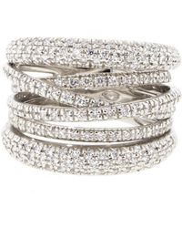 Sidney Garber - Scribble Diamond Band Ring - Lyst