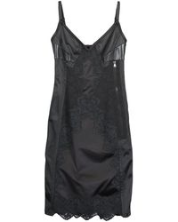 Louis Vuitton Lace Corseted Midi Dress - Black