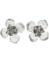 Alexis Bittar Marquis Gardenia Post Earrings - Metallic