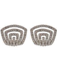 Dana Rebecca - Diamond Pave Huggie Earrings - Lyst
