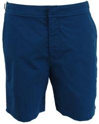 Orlebar Brown Bulldog Navy Mid-length Swim Shorts - Blue