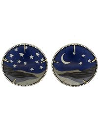 Silvia Furmanovich - Marquetry Night Sky Moon And Star Earrings - Lyst