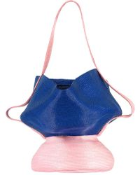 Rosie Assoulin Pink And Blue Jug Bag