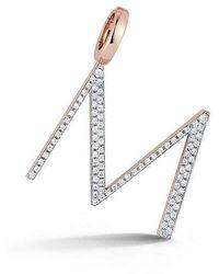 "WALTERS FAITH Woolf Diamond ""m"" Initial Charm - Metallic"