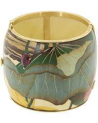 Silvia Furmanovich Marquetry Leaf Bracelet - Green