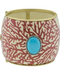 Silvia Furmanovich Marquetry Red Coral And Turquoise Bracelet - Multicolour